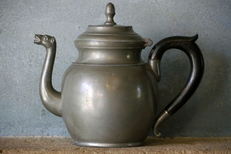Antique Tin Teapot