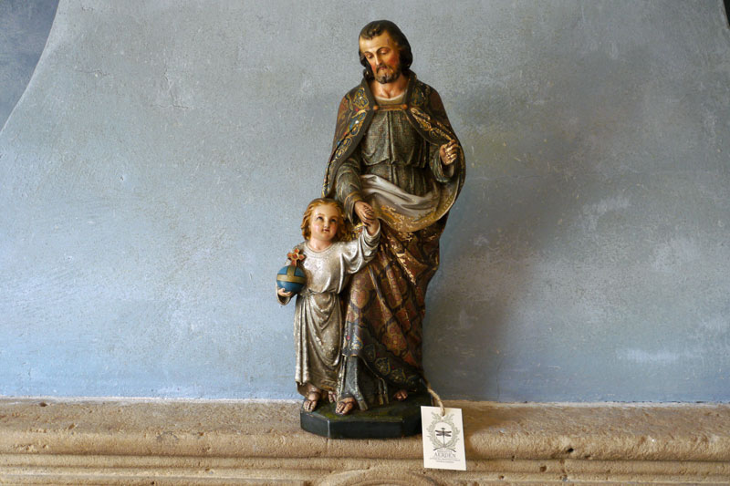 Statue St.Josef with Child