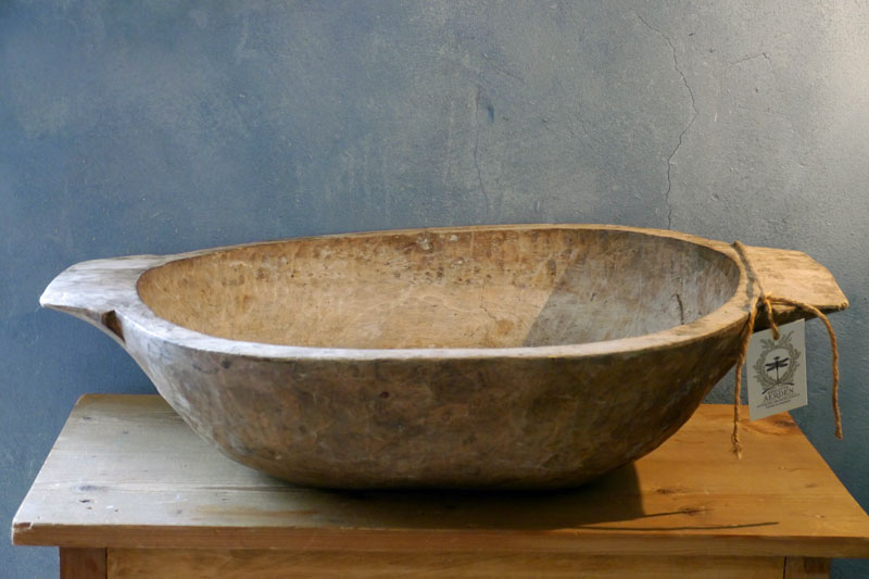 Large Wooden Dough Bowl