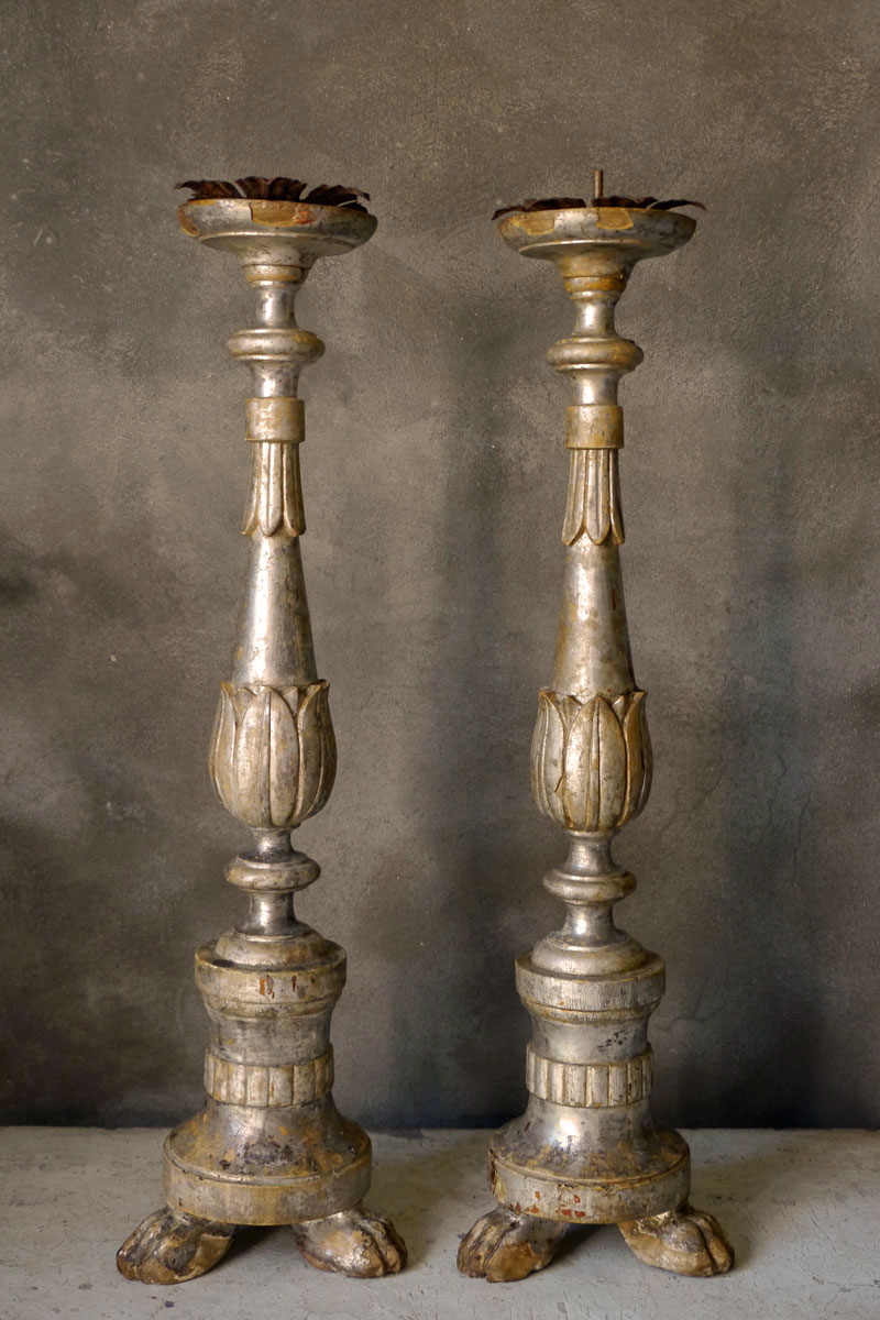 Pair French Candleholders