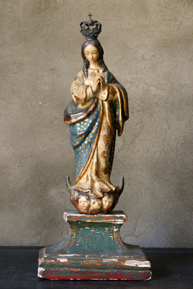 Wooden Virgin Mary