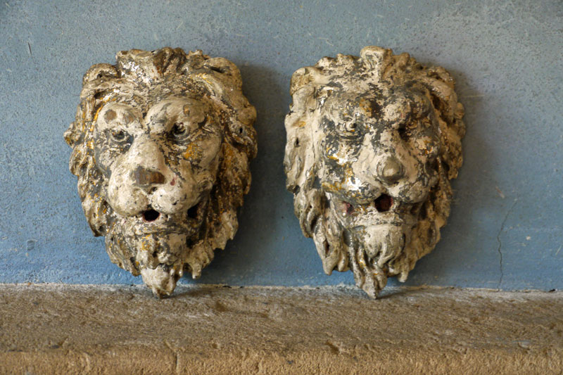 Wooden Lion Heads