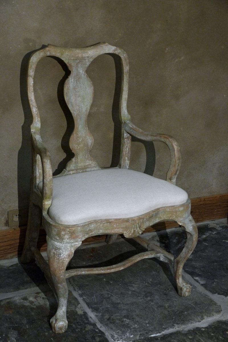 Zweeds Antieke Stoelen.Zweedse Rococo Armstoel Brigitte Aerden Antiques Architecturals