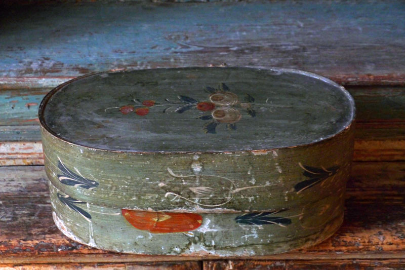 Swedish Painted Tine Box