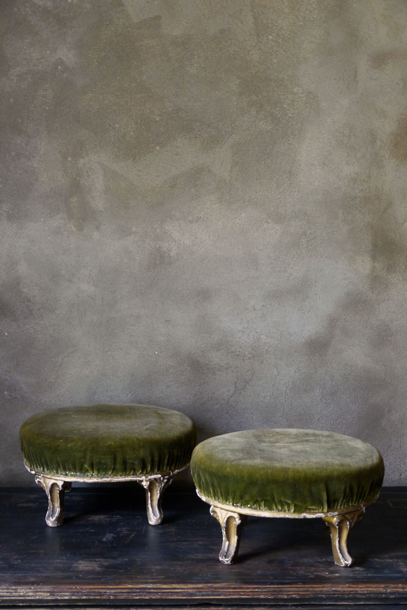 Pair Guilded Footstools