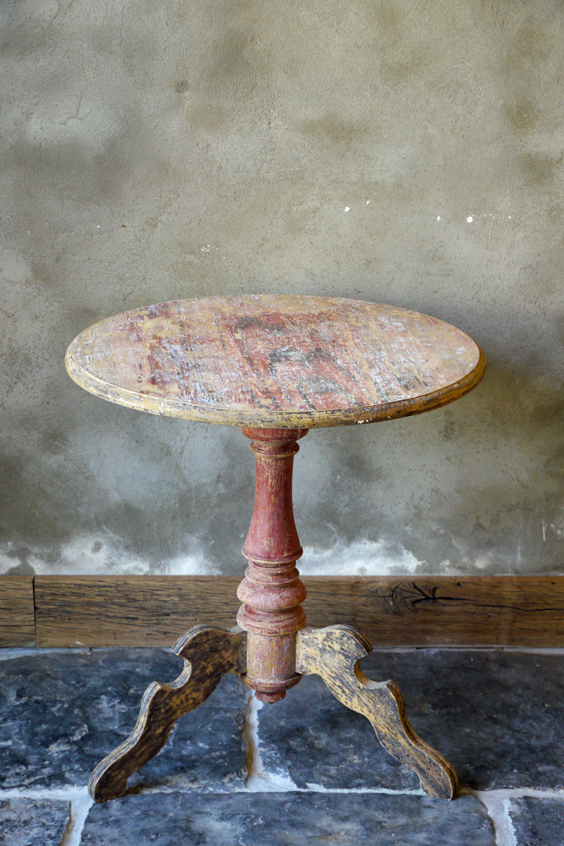Swedish Baroque Pedestal Table